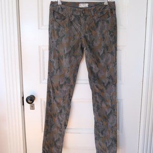 Free People Camouflage Corduroy skinny Jeans
